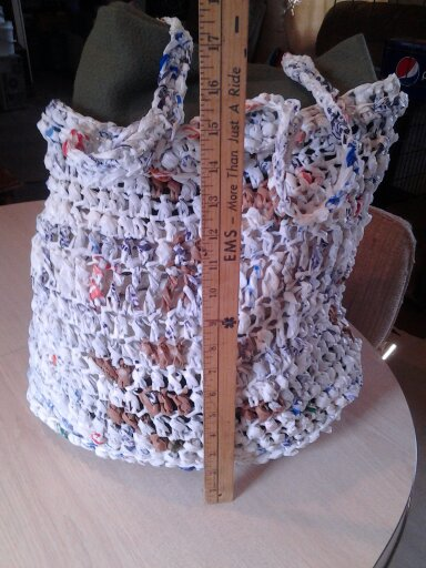 plarn, plastic yarn, tote, bag, crochet, beginners