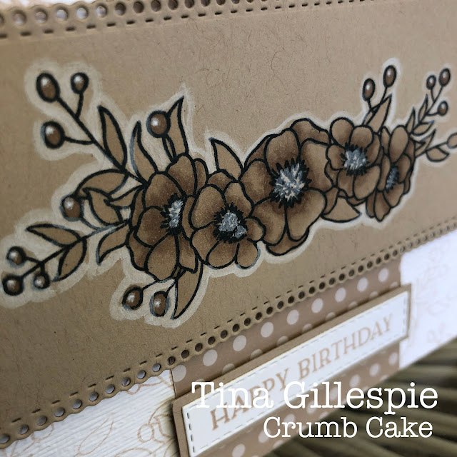 scissorspapercard, Stampin' Up!, Colour Creations, Bloom and Grow, Blossoms In Bloom, Ornate Layers Dies, Stitched Rectangles Dies, Subtle 3DEF, Stampin' Blends, Neutrals DSP, Chalk Marker