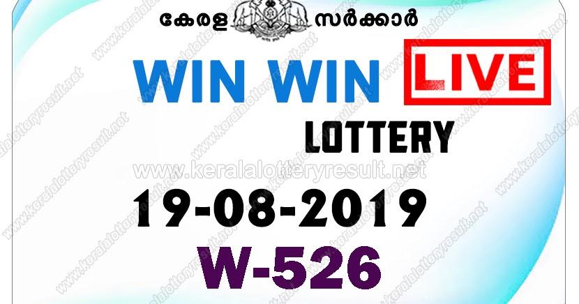 19-08-2019 Win Win W-526 Lottery Result