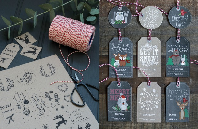 imprimibles gratis: 10 etiquetas para regalos