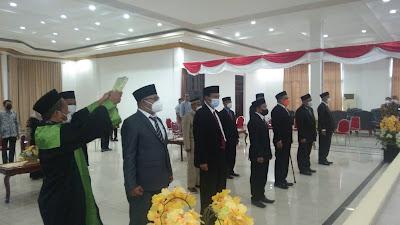 Tampak Para Pejabat Pimpinan Tinggi Pratama yang dilantik Wali Kota Tual Adam Rahayaan di Balai Kota Tual, Kamis (22/07/2021). Foto: Ridwan K.
