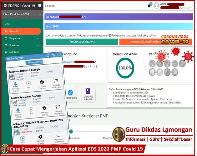 Cara Cepat Mengerjakan Aplikasi EDS 2020 PMP Covid 19