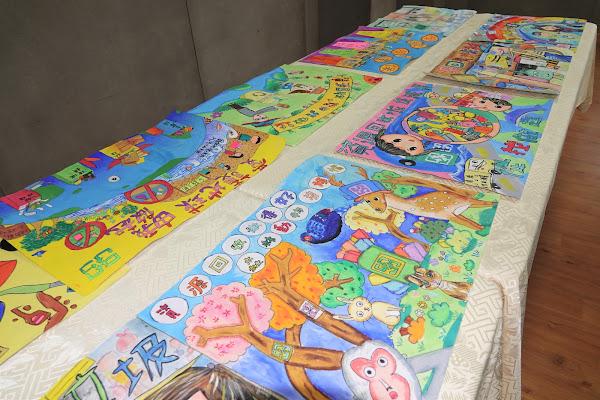 鹿港鎮公所資源回收繪畫賽 環保觀念從小扎根