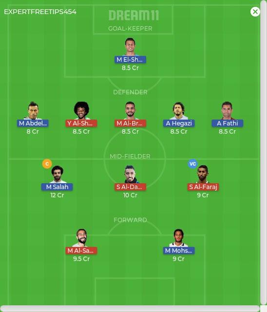 SAUDI ARABIA VS Egypt Dream 11 Predictions