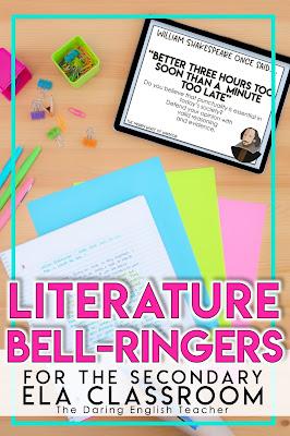 Literature-Focused Bell-Ringers