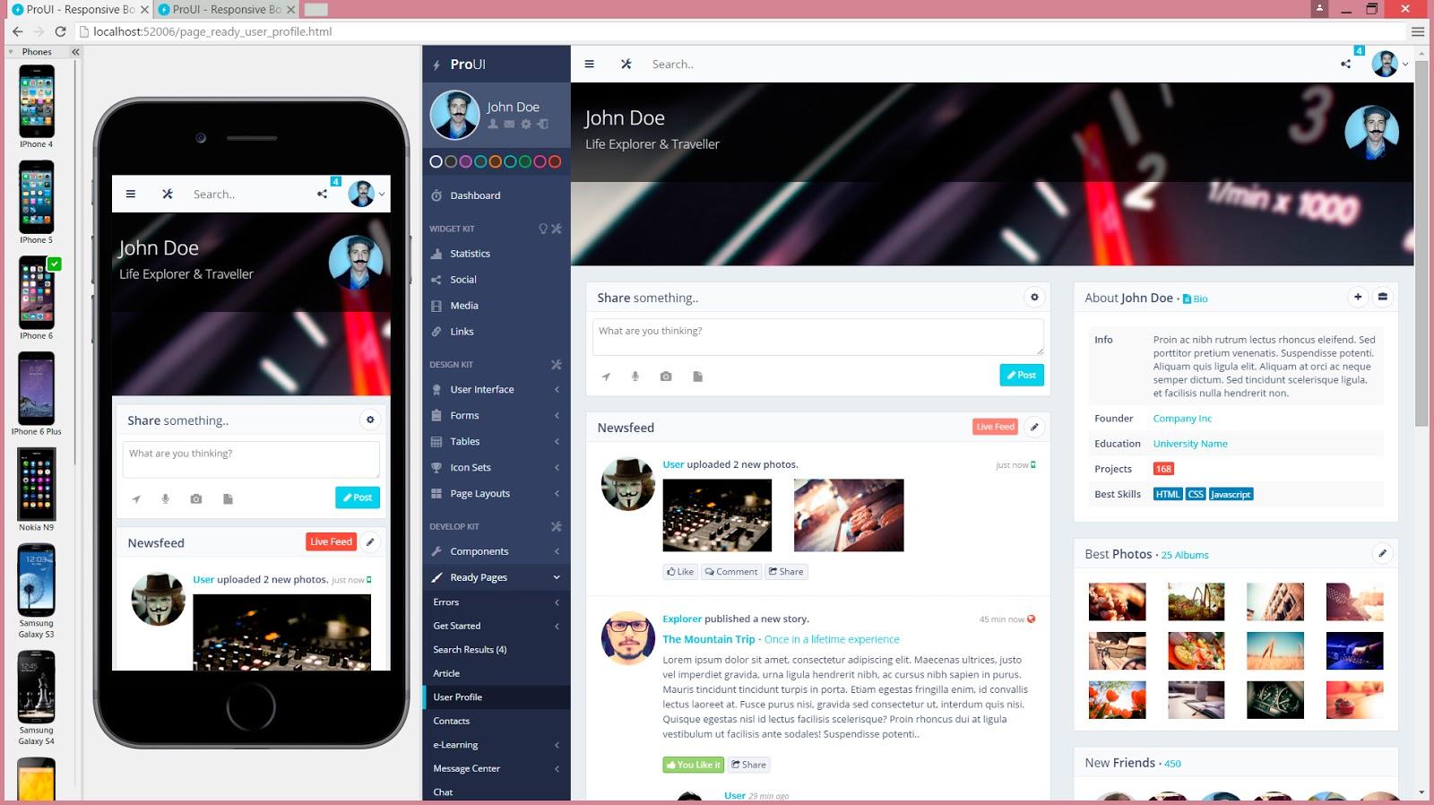 navegador web para programadores