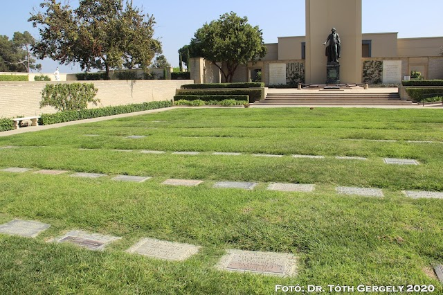 Graves of the first pastor and chief elder of our church at Forest Lawn Glendale