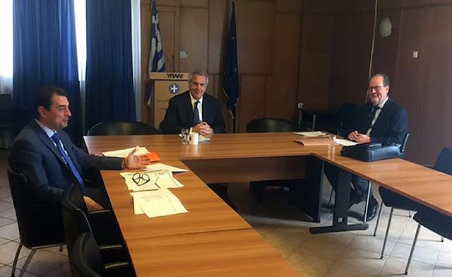 Συνάντηση Νίκα με τον υπουργό Αγροτικής Ανάπτυξης Μ. Βορίδη