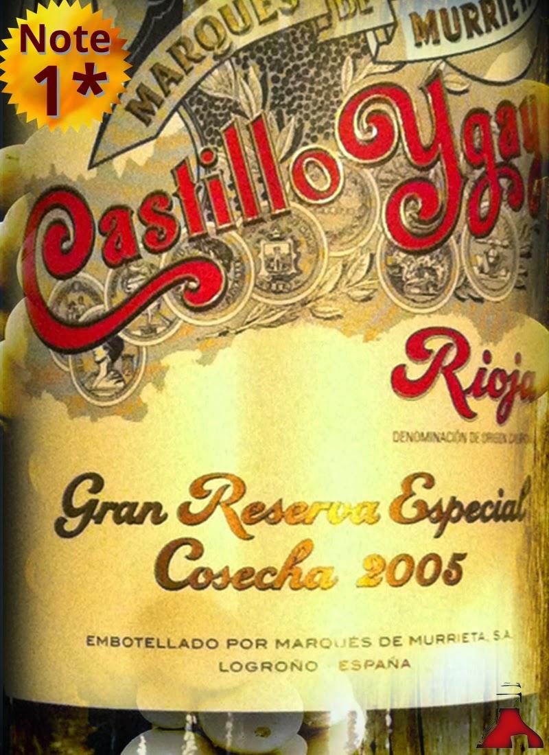 Globus Marques de Murrieta Castillo Ygay Rioja Gran Reserva Especial 2005