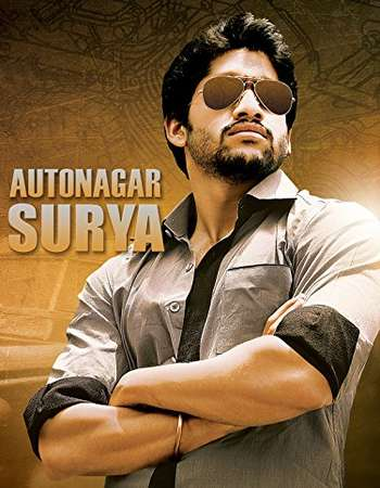 Poster Of Autonagar Surya 2014 Hindi Dubbed 700MB DTHRip x264 Free Download Watch Online downloadhub.net