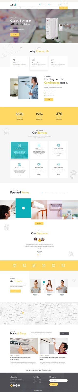 Airco - AC Repair PSD Template