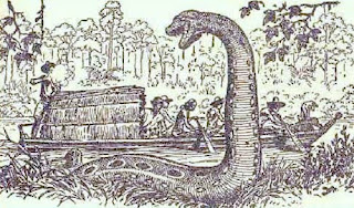 Percy Fawcett disparando a la Anaconda Gigante