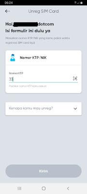 - Isikan nomor KTP yang digunakan untuk Registrasi