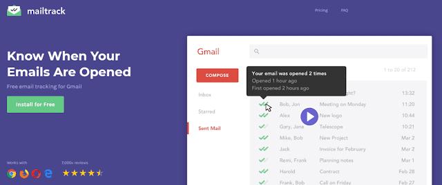 MailTrack Chrome Extension