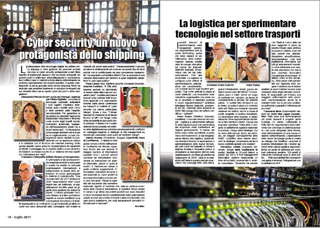 LUGLIO 2019 PAG. 10 - Cyber security, un nuovo protagonista dello shipping