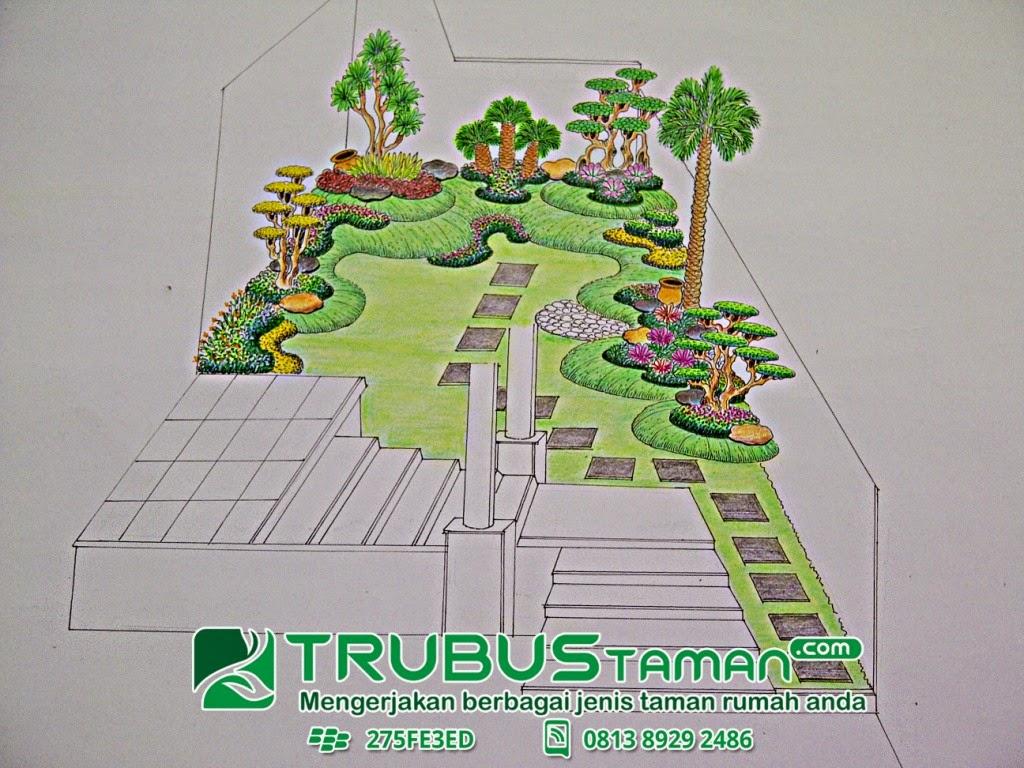 Desain Sketsa Taman