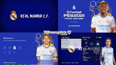 PES 2021 Menu Mod Real Madrid 2021/22 by PESNewupdate