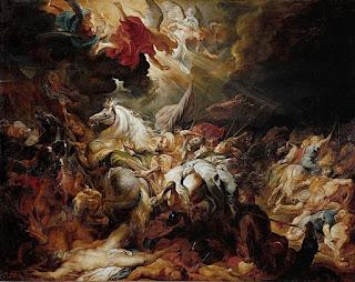 Pintura de la derrota de Senaquerib