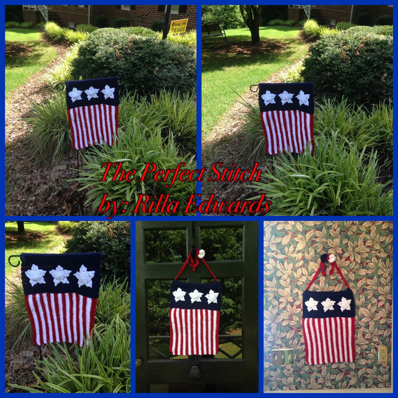 The Perfect Stitch Patriotic Garden Flag