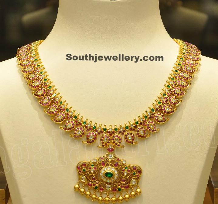 stunning ruby mango mala jewellery designs