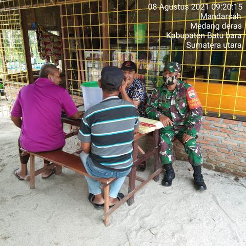 Jalin Silaturahmi Dengan Masyarakat, Personel Jajaran Kodim 0208/Asahan Dekat Dengan Masyarakat Melalui Komsos