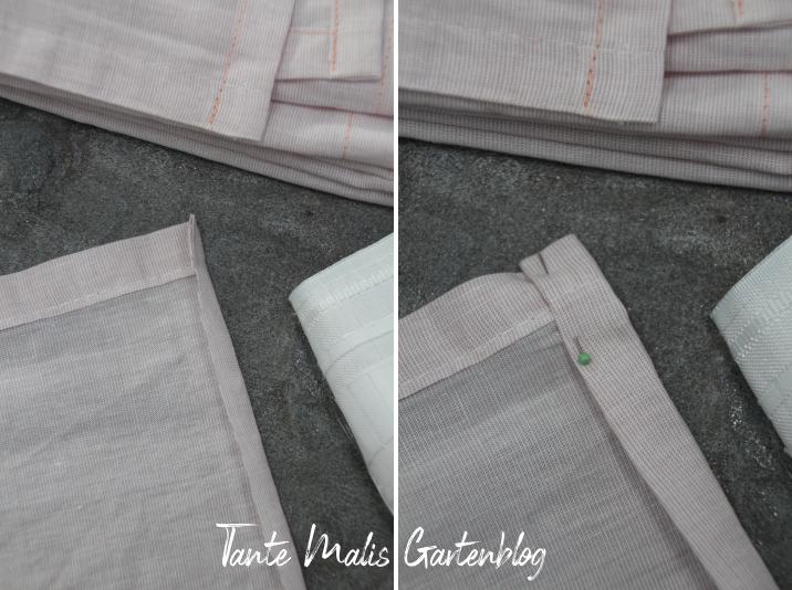 Upcycling Stoffservietten aus Vorhang