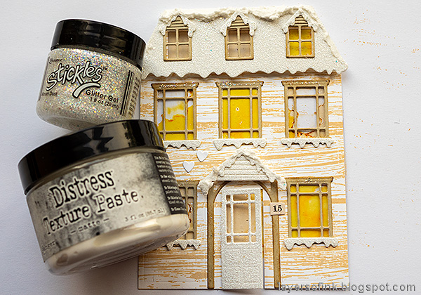 Layers of ink - Winter House Easel Card Tutorial by Anna-Karin Evaldsson.
