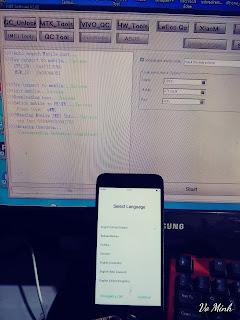 Xóa mật khẩu màn hình Oppo A71 CPH1801