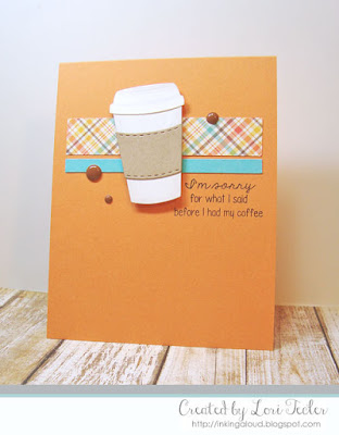 Before I Had My Coffee card-designed by Lori Tecler/Inking Aloud-stamps and dies from Lil' Inker Designs