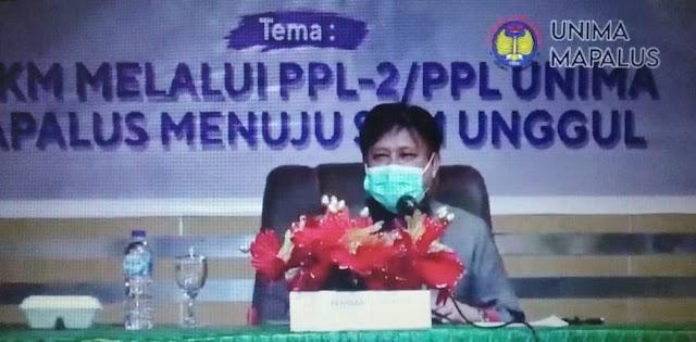 Mewakili Rektor UNIMA Prof.Orbanus Melepas Mahasiswa PPL/PLP