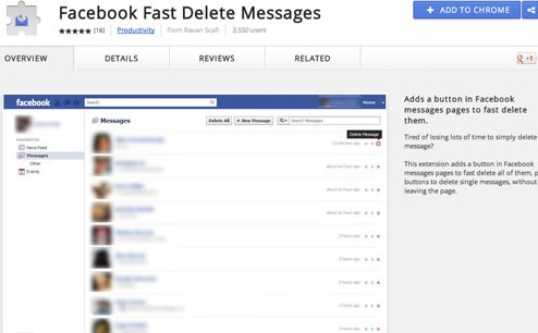 how to delete facebook messages from friends inbox