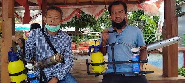 Pemuda desa Kuripan buat alat Fogging