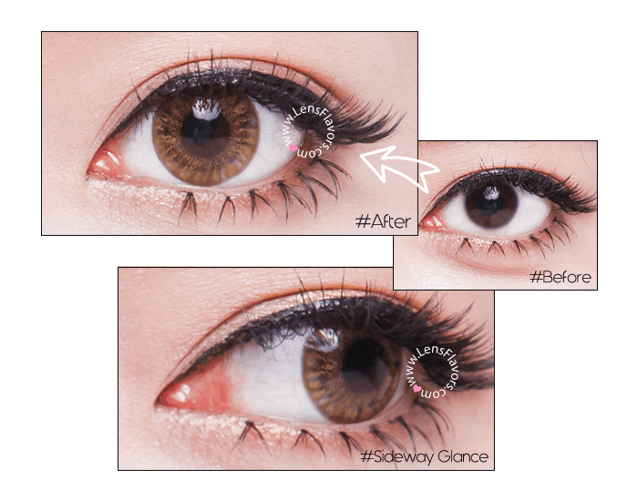 vassen rainbow eyes brownish hazel before after