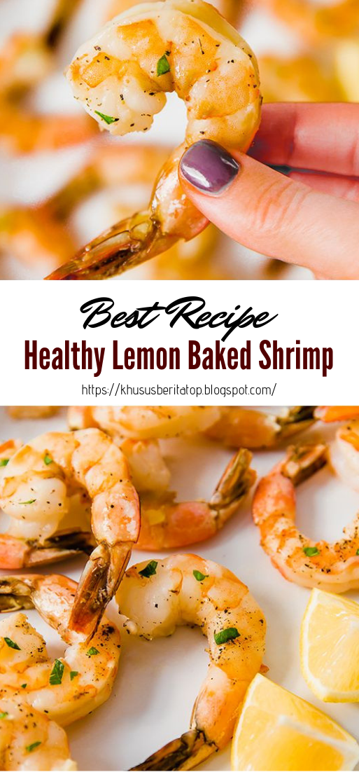 Healthy Lemon Baked Shrimp #healthyfood #dietketo #breakfast #food