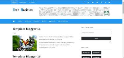 Template Blogger Tech Noticias ou para Temas de sua escolha