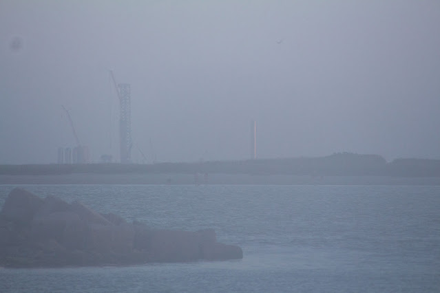 First view of SpaceX launch site as seen from SPI, DSLR, 250mm, 1/500 second (Source: Palmia Observatory)