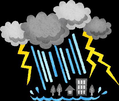 大雨災害に注意