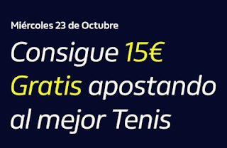 william hill Consigue 15€ Gratis Tenis 23-10-2019