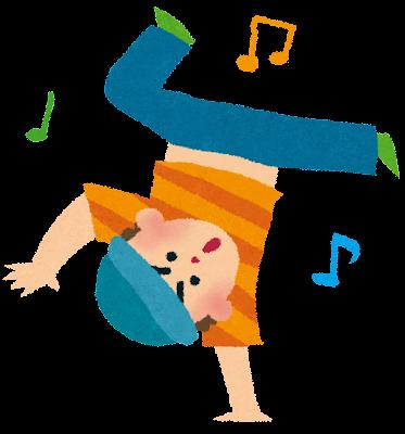 ヒップホップダンス・ブレイクダンスのイラスト