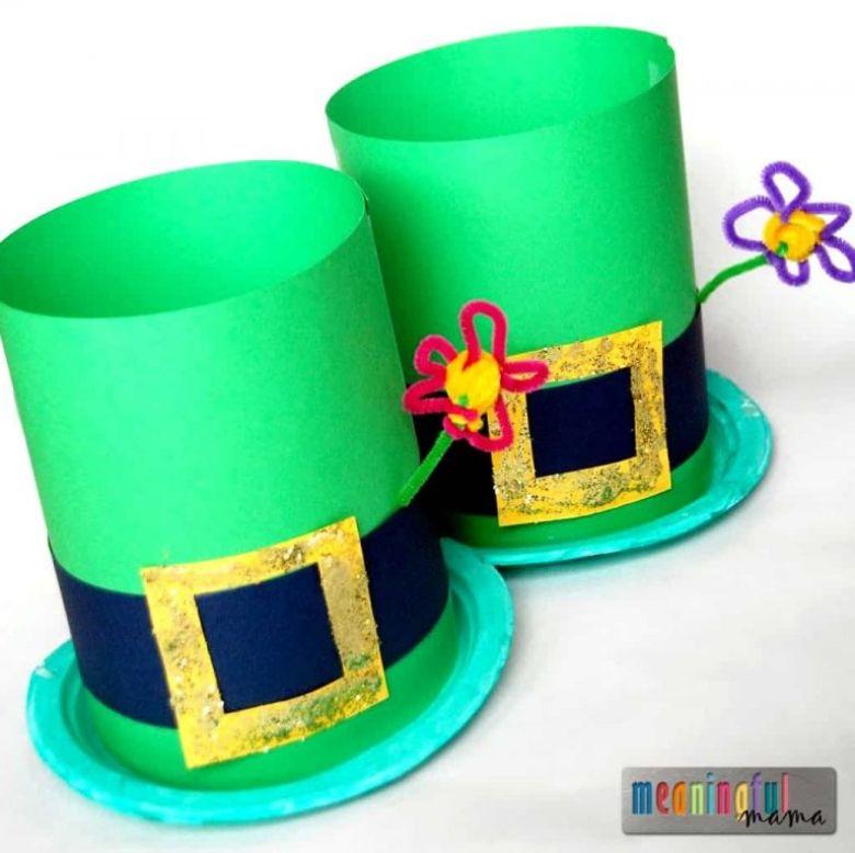 St Patricks day crafts for preschoolers - leprechaun hat craft