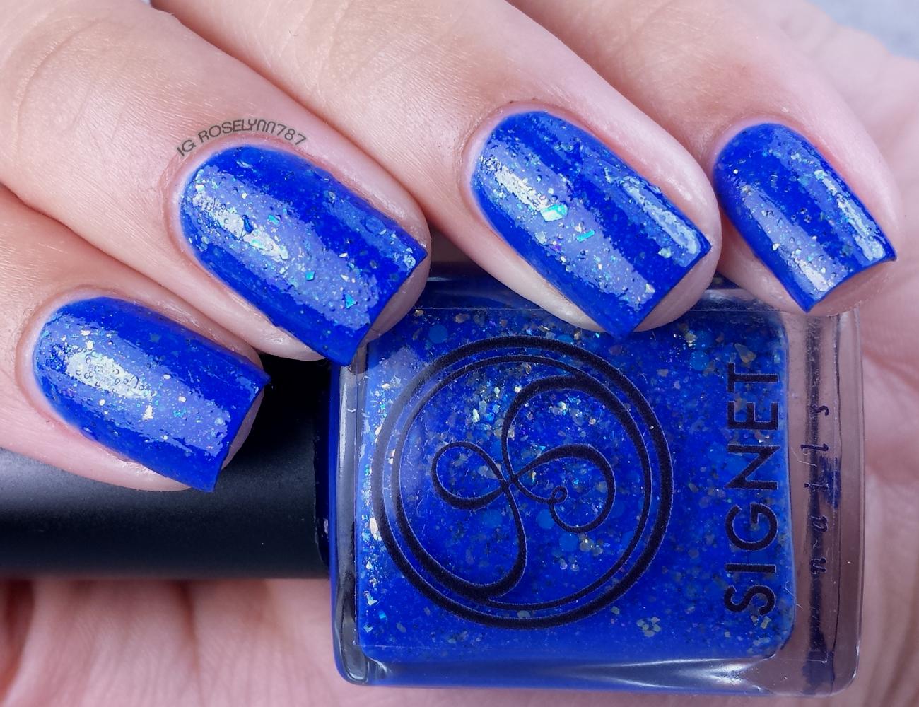 Signet Nails - Lapis Lazuli