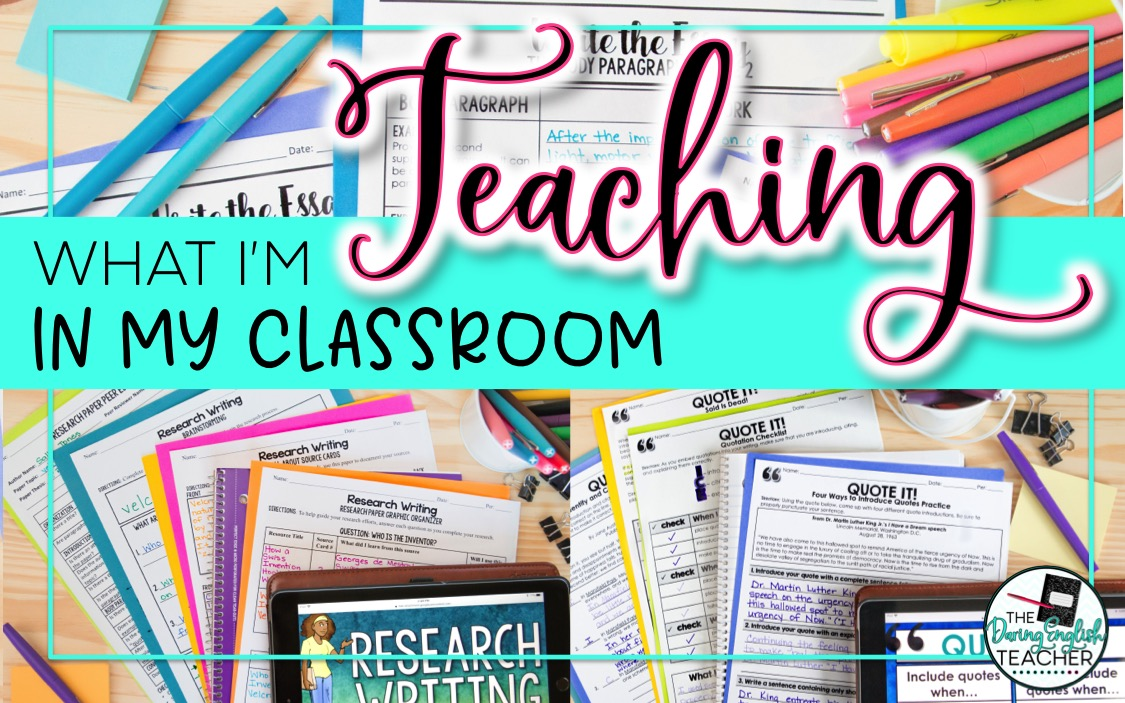 What I'm Teaching in My Classroom: A Look at Secondary ELA