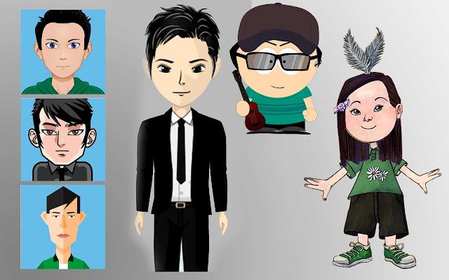Website untuk membuat gambar avatar, Situs untuk membuat gambar avatar, gambar avatar, desain avatar.