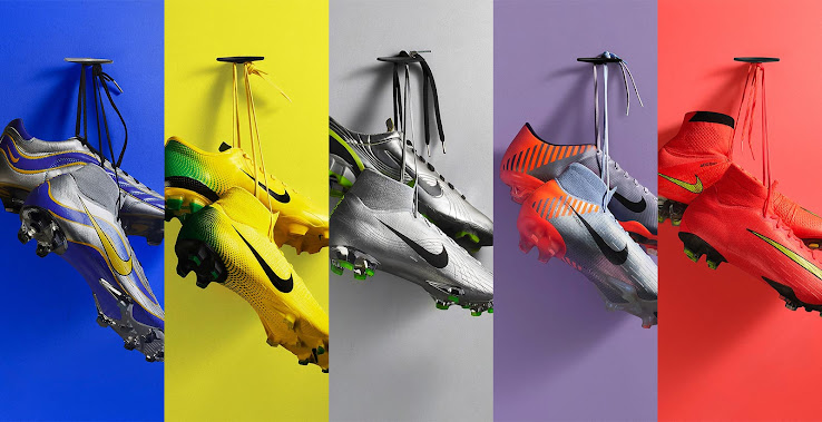 3e0b27ab2950 Nike 1998, 2002, 2006, 2010 and 2014 Mercurial 360 Heritage iD 2018 Boots  Released