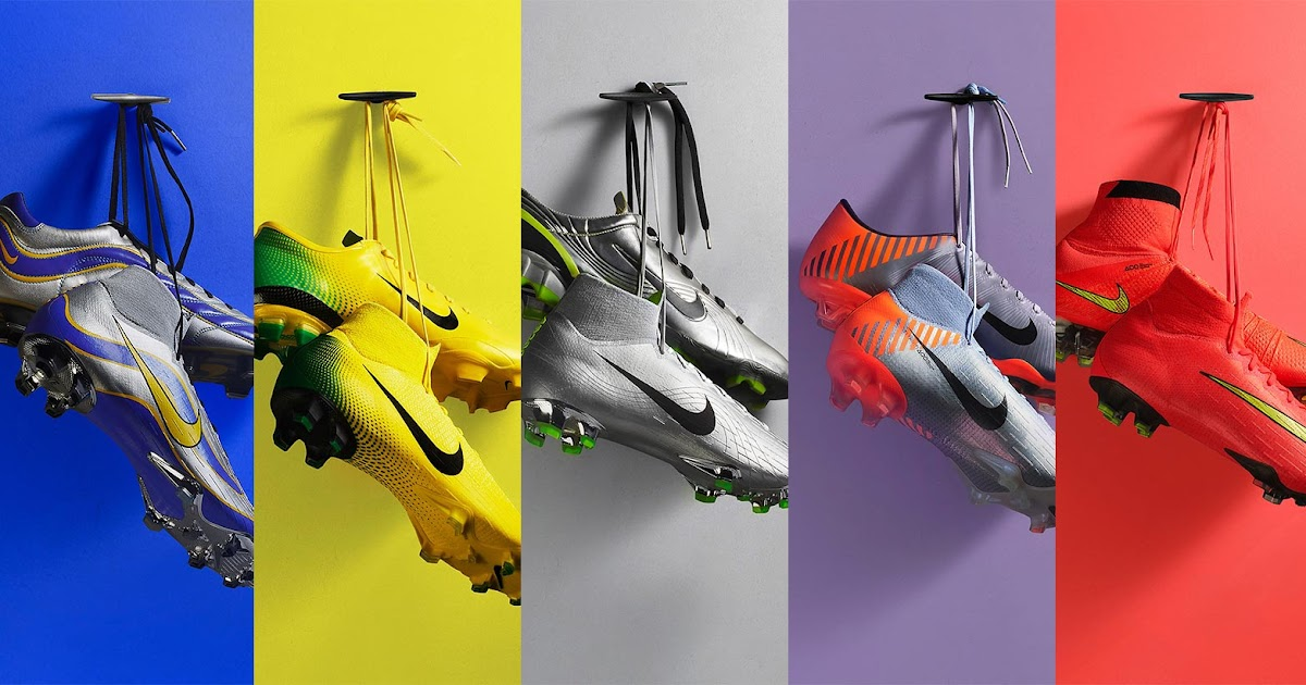 d3a971b94 Nike 1998, 2002, 2006, 2010 and 2014 Mercurial 360 Heritage iD 2018 Boots  Released