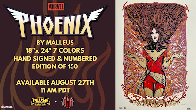 "X-Men ""Dark Phoenix"" Marvel Comics Screen Print by Malleus x Plush Art Club x Grey Matter Art"