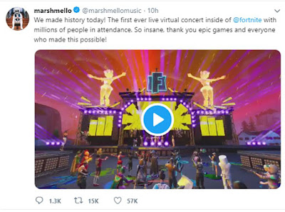 Marshmello Fortnite tweet
