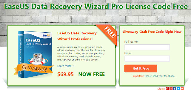 EaseUS Data Recovery Wizard Pro Giveaway
