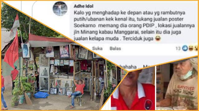 Dibongkar Netizen, Pemulung yang Ditemui Risma Disebut Orang PDIP dan Jualan Poster Soekarno