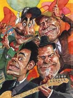 Caricature of Funny Musicians